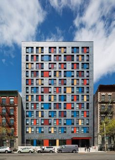 New York studio Alexander Gorlin Architects has completed a Bronx apartment block with small studios for low-income tenants, including those who were once homeless.