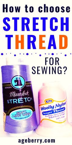 This sewing tutorial is focusing on stretch thread for sewing. Learn how to sew with elastic thread, find out all about woolly nylon and Eloflex threads. Sewing with a stretch thread has its own settings. Wooly nylon thread is used mostly in sergers. Learn all about types of stretchy sewing threads and how to use stretchy thread in your sewing projects.