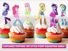 My Little Pony girls Cupcake toppers equestria girls by ANNILORACK