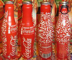 Sochi Olympics Coca-Cola Coke bottles