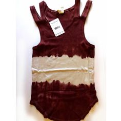 Free People Wine/Cream Double Strap Tie Dye Tank Free People wine and cream tie dye tank with double straps on each side. One sits on the shoulders, the other off the shoulders. Perfectly on trend! Brand new with tags. Size S. ❌ NO TRADES ❌ NO LOWBALLING ❌ Free People Tops Tank Tops