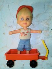 "Liddle Kiddle Howard ""Biff"" Boodle Call Me Biff Mint Doll, Hat, Wagon, VG Outft"