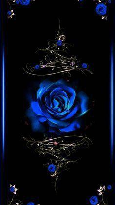 Blue Roses Wallpaper, Black And Blue Wallpaper, Gothic Wallpaper, Flower Phone Wallpaper, Heart Wallpaper, Butterfly Wallpaper, Cute Wallpaper Backgrounds, Blue Wallpapers, Cellphone Wallpaper