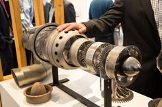 One of the 3D printed engines currently on display at the International Air Show in Avalon, Australia (Photo: Noel McKeegan/Gizmag.com)