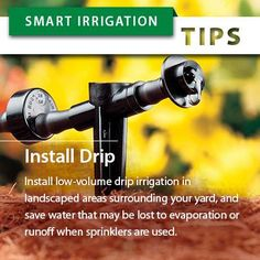 """July is Smart Irrigation Month, so for the next few weeks we'll be sharing """"Smart Irrigation Tips"""" and other resources to help you conserve water, time, and money. Thanks for sharing!  For even more information, please visit our complete library of Water Conservation Tips: http://www.rainbird.com/corporate/IUOW/waterconservationtips.htm"""