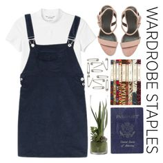 """""""Wardrobe Staples: White T-shirt"""" by monicanne ❤ liked on Polyvore featuring Monki, Passport and Rebecca Minkoff"""