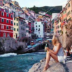 Tuula at Cinque Terre, Italy