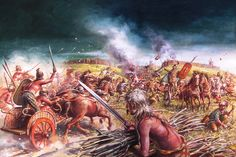 British warriors launch an assault against their tribal enemies within a well defended hill-fort. The internal warfare of Briton was one of the principal reasons for the drawn out conquest of the island.