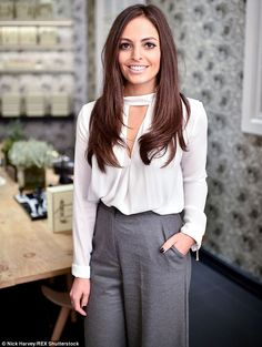 Sky's the limit: Sky Sports presenter Olivia Wayne opted for a smart look as she opted for...