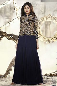 Z Fashion Trend: SHILPA IN BLUE EMBROIDERED ETHNIC SUIT SET