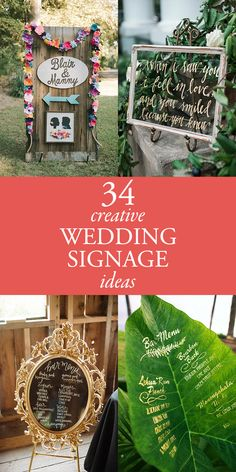 We believe that utility can be totally beautiful, and these 34 creative wedding signage ideas are here to inspire you to make a statement with style!