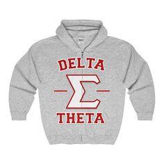Delta Sigma Theta Full ZipUp Hooded // Delta Sigma Theta // Delta Sigma Theta Gift // Delta Sigma Th Delta Sigma Theta Apparel, Sigma Gamma Rho, Alpha Kappa Alpha Sorority, What Is A Delta, Alpha Kappa Alpha Paraphernalia, Delta Girl, Line Jackets, Hoodies, Sweatshirts