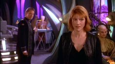 Babylon 5 Lyta Alxander on the White Star, causing pain to the Shadow ships. She saved all of humankind...only to forgotten. :-(