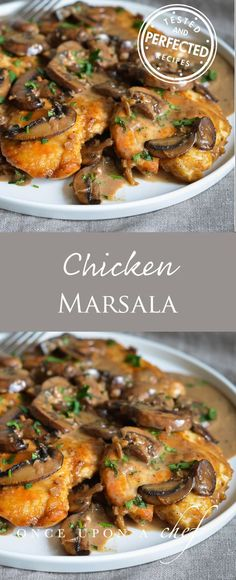 Chicken Marsala is an Italian-American dish of golden pan-fried chicken cutlets and mushrooms in a rich Marsala wine sauce. Though its a classic restaurant dish its really easy to make at home. With just one pan you can have it on the dinner table in Fried Chicken Cutlets, Pan Fried Chicken, Recipe Chicken, Chicken Cutlet Recipes, Chicken Marsela, Chicken Salad, Chicken In Wine Sauce, Chicken Recipes With Sauce, Turkey Cutlet Recipes