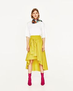 MIDI SKIRT WITH SLEEVE DETAIL-View All-SKIRTS-WOMAN | ZARA United States