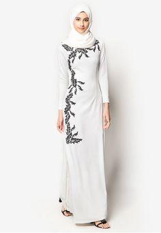 Model Baju Gamis 2015 Busana Muslim Putih In 2018 Pinterest