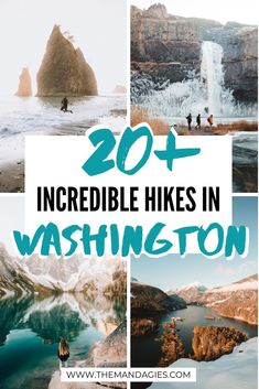 Incredibly Beautiful Hikes In Washington State Worth The Sweat - The Mandagies - Discover more than 20 beautiful hiking trails in Washington State! From waterfall hikes to scenic m - Kauai, Oahu Hawaii, Promenade Sur La Plage, State Parks, Waterfall Hikes, California, To Infinity And Beyond, Best Hikes, Tahiti