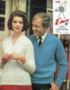 PDF Vintage 1960s Ladies Womens Mens Knitting Pattern Mod His Easy Knitting, Knitting Patterns, Crochet Patterns, Hair Reference, Retro Clothing, 1960s Fashion, Motown, Vintage Knitting, Retro Outfits