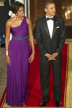 Michelle Obama fashion with belt - glamour