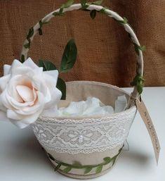 Botanical Flower Girl Basket - Wedding Ceremony Decoration - Aisle Confetti  #aisle #Basket #Botanical #Ceremony #Confetti #Decoration #Flower #Girl #Wedding