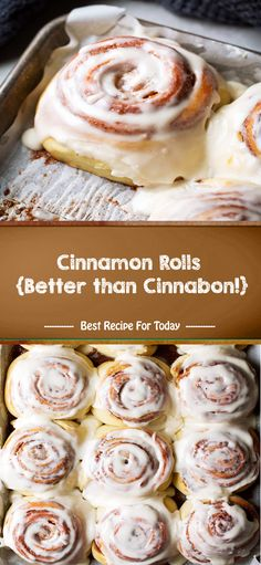 Cinnamon Rolls {Better than Cinnabon!} - The Place Beauty Delicious Desserts, Dessert Recipes, Baked Rolls, Cinnabon, Brownie, Oreo, Cinnamon Cream Cheeses, Biscuits, Sweet Bread