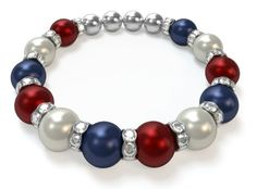 Check out my Mothers Bracelet! What does yours look like? Design a bracelet in just 3 easy steps!  Actually I don't like the birthstone combos for my grands so I just made one red, white and blue!