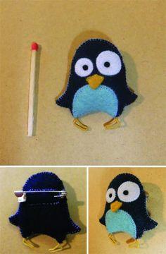 Pingouin en broche !