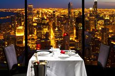 The Signature Room on the 95th floor of the John Hancock building in Chicago; loved having lunch there with my husband for our anniversary.