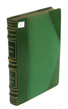 Lote 1198 - O Arcanjo Negro, Aquilino Ribeiro, Lisboa, 1960.Edição timbrada com o sinete do autor. Encadernação meia…