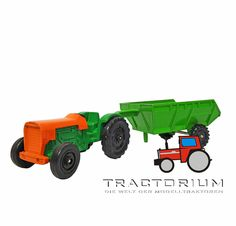 Hanomag Traktor mit Dumper ca. 1/55