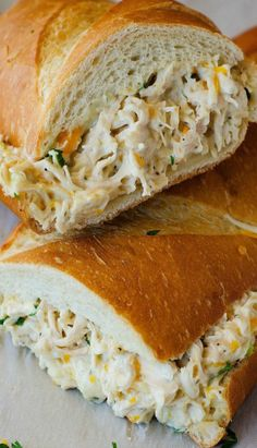 Chicken Stuffed French Bread.
