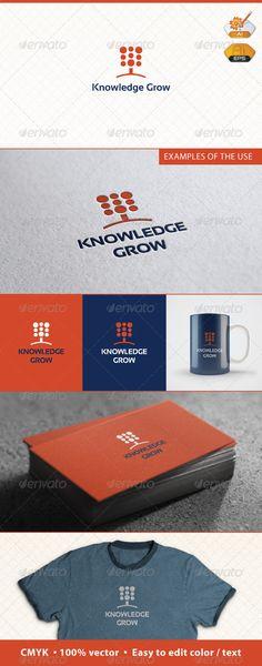 Knowledge Grow Logo Template