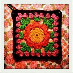 "Ravelry: Blooming Granny - 12"" Square pattern by Melinda Miller"