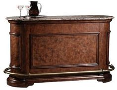 Howard Miller 693-000 Ithaca Bar by Howard Miller - CellarsOfWine.com Made in USA - Repin, Like & Share - Thanks! $3,402.00 Wine Furniture, Howard Miller, Game Room, Chair, Storage, Home Decor, Purse Storage, Decoration Home, Room Decor