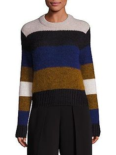 Rag & Bone Britton Striped Pullover - Ash - Size