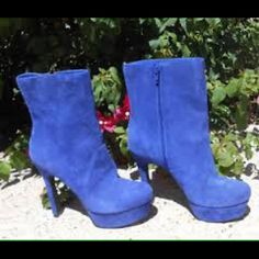 Spotted while shopping on Poshmark: Jessica Simpson Blue Suede Booties! #poshmark #fashion #shopping #style #Jessica Simpson #Shoes