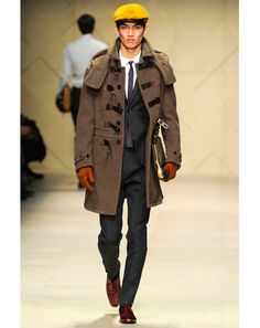 An excellent toggle coat from Burberry Prorsum.