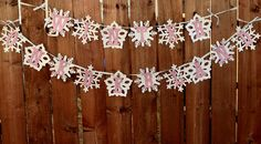 Winter Onederland Snowflake Banner for by PaperPartyParade on Etsy, $27.00