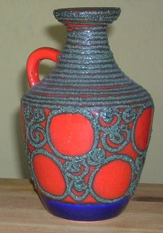 VEB Strehla (DDR) Fat Lava vase