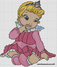BABY AURORA cross stitch