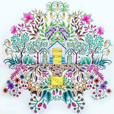 Johanna Basford | Colouring Gallery - Secret Garden - garden sheds