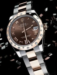 Ladies Rolex Datejust with diamonds bezel