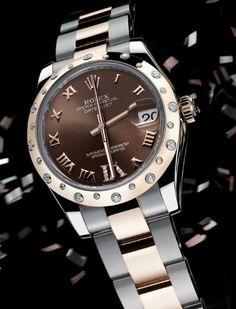 Ladies Rolex Datejust with diamonds bezel