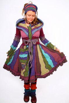 KATWISE Sweater Coat Rainbow Magic Tutorial PDF | Upcycled ...