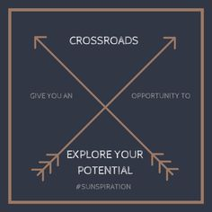 Sunspiration #81: Crossroads Can Be a Good Thing