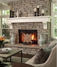 Glamourflower Set Fireplace