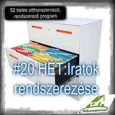 #20.HÉT - OTTHONI IRODA - Iratok rendszerezése - Háztartásbeli kihívások Konmari, Filofax, Filing Cabinet, Organization, Cleaning, Storage, Organize, Blog, Home Decor