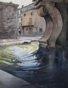 Pablo Rubén López Sanz  Acuarela/Watercolor/Daniel Smith Colors  100 x 81cm.