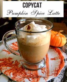 Peonies and Orange Blossoms: Copycat Starbucks Pumpkin Spice Latte
