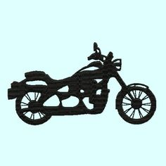 Motorcycle Silhouette Embroidery Designs 3 sizes by LunaEmbroidery, $2.99